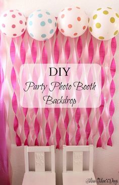 Princess 1st Birthday Party, dollar store decor hacks and tips, FREE printables to create an adorable personalized party banner.  Find Dollar store hacks and more! DIY Party Photo Booth Backdrop.