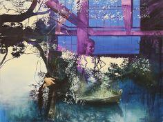 "Saatchi Online Artist: Lorella Paleni; Oil, 2012, Painting ""Up here, losing it"""
