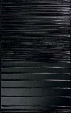 Pierre Soulages,  Peinture 130 x 81 cm, 27 mai 2004