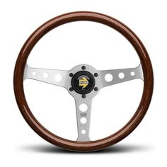 "MOMO INDY Classic Wood Steering Wheel 350mm/13.8"" + MOMO Hub Adapter Kit #MOMO"