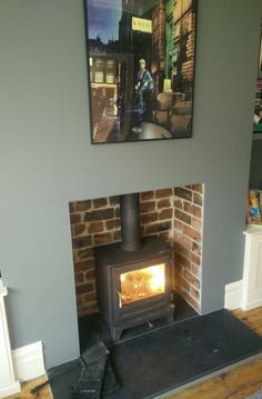 Chesneys Salisbury 5 in repointed fireplace