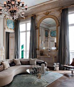 Sala de estar em Paris.