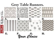 Grey Table Runner Gray Table Runner.Grey Table by KikoyChic