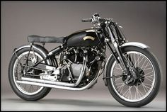1952 Vincent Black Lightning. So great it inspired a song. *drool*