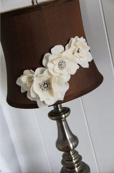 Felt flowers rhinstone buttons