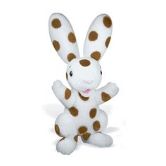 Based on the character from H. Rey's classic picture book, Spotty the rabbit is sure to delight youngsters with his velvety fur, bright blue embroidered eyes, and of course his signature spots! Curious George, Rabbit Toys, Ballerina, Childrens Books, Disney Characters, Fictional Characters, Plush, Miniatures, Fur