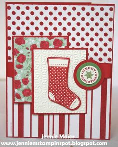 Stampin' Up Christmas Card Idea