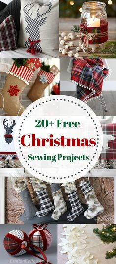 20+ Gifts and Decor to Sew tor Christmas. Free Patterns and Sewing Tutorials. Sweet Red Poppy #sewing #christmassewing #sewingtutorial #freesewingpattern