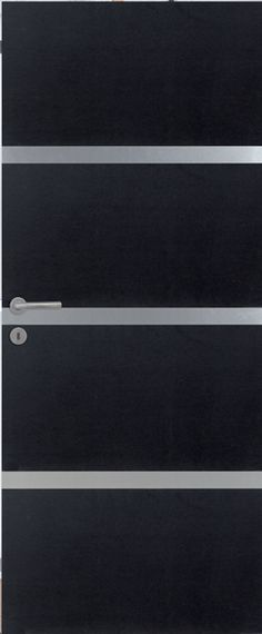 Porte int rieure contemporaine mdf noir vernis naturel mat portes int rieures contemporaines for Porte interieure noire