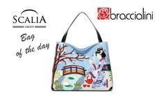 La #bagoftheday è la borsa Braccialini #Cartoline #Giappone,una shopper riecheggiante l'Oriente ed il suo fascino