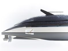Sustainable yacht concept. Creative direction by Alfred van Elk for Feadship. Design by de Voogt Naval Architects. Stern.