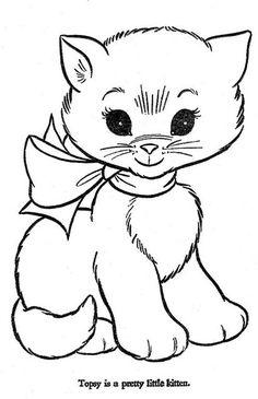 Gato para colorir.