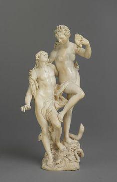 'Orpheus and Eurydice'. Artist: Baur, Johann Leonhard (1681 - 1760). Date: 1716. Ivory. Marks and inscriptions: 'LEON BAUR/1716' inscribed under the base. Height: 24.5 cm. -Victoria and Albert Museum-