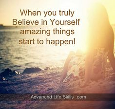 life lessons about believing in yourself