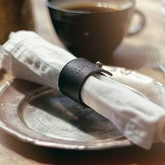 Kahvibreikki. #coffeebrake #rok #napkinring #leather #handmade #pianudesign #kerava #anuek #sisustusnärhi #werock