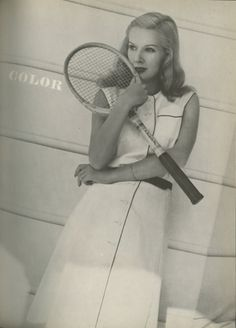 1944 Harpers Bazaar - White Tennis Dress