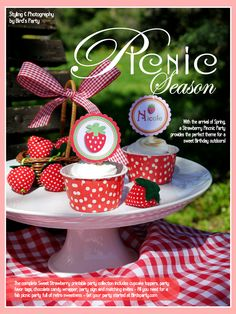 PicNic Season: Sweet Strawberry Party Inspiration! by Bird's Party