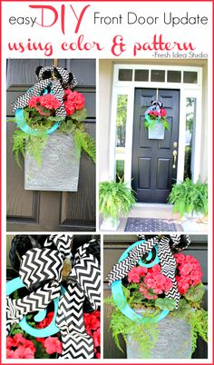 Need a Fast & Easy Update for your Front Door? DIY Tips at Fresh Idea Studio  #DIY #FrontDoor