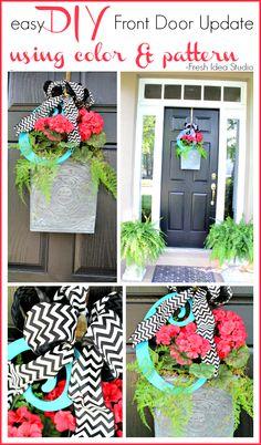 Need a Fast & Easy Front Door update? #OneHourOrLess #DIY