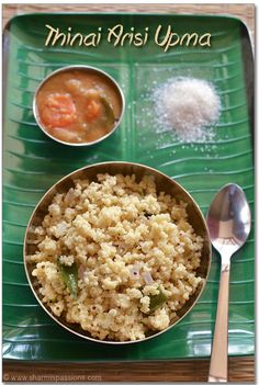 Thinai Arisi Upma - How to cook thinai rice - Foxtail Millet Recipes