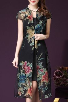 Lovely Dresses, Simple Dresses, Elegant Dresses, Casual Dresses, Short Sleeve Dresses, Dress Outfits, Fashion Dresses, Emo Outfits, Batik Fashion