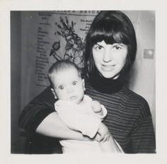 Sylvia Plath with her son Nicholas
