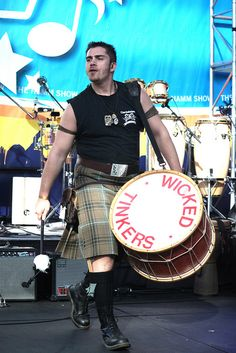 This bass drum player wore one. // Wicked Tinkers by AOCVCB, via Flickr