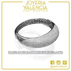 Nueva pulsera en oro blanco con pavé de brillantes. Encuéntrala en nuestro local en San Marino. #joyeriavalencia #sanmarino