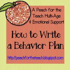 How to Write a Behavior Support Plan -- via wikiHow.com