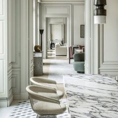 Apartment in the Avenue Montaigne-Paris, one of the latest projects by Joseph Dirand. Kitchen realisation by belgian based company Obumex