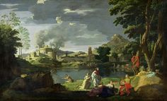 Orpheus And Eurydice Painting by Nicolas Poussin