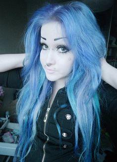 Purple/Dark blue alternative hair to girls