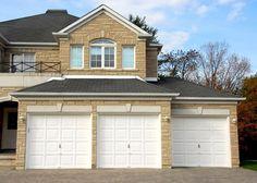 white color garage door
