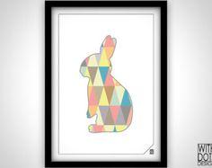 Printable Geometric Rabbit