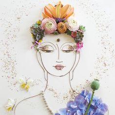 """""""Enlightened Buddha"""" Flower Face Print"""