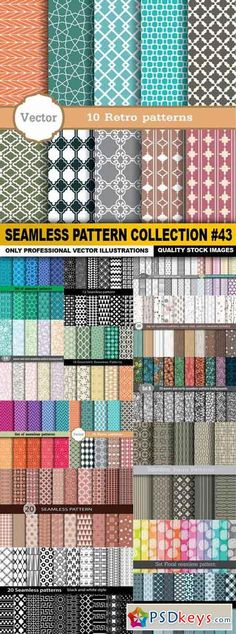 Seamless Pattern Collection #43 - 15 Vector