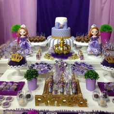 Decor Sofia The First, Pasta, Cake, Decor, Princess Sofia Party, Little Princess, Ideas Para Fiestas, Princesses, Princess Sofia
