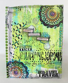 My Art Adventures: Mixed Media Accordion travel journal