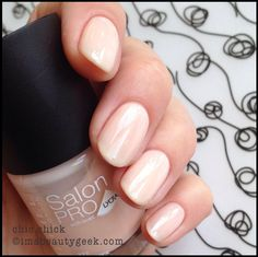 Rimmel SalonPro w/ Lycra. Love this color- it's perfectly neutral and resists chips. I'm about to go buy this brand in every color!