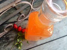 Home-made rosehip syrup (aka Wobenzym that grows behind the barracks)- Domácí šípkový sirup (aka Wobenzym který vám roste za barákem) Rosehip Syrup, Home Canning, Jam And Jelly, Wine Storage, Samos, Hot Sauce Bottles, Whole Food Recipes, Plant Based, Smoothies