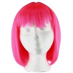 Hot Pink Straight Costume/Cosplay Bob Wig - 12'' (30cm)