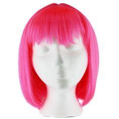 Hot Pink Straight Costume/Cosplay Bob Wig - 12'' (30cm)