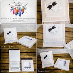 kartka ślubna - sztalugowa z pudełkiem