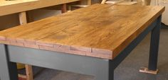 Oak Farmhouse Table In Grey