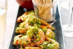 Scampi's in kruidenkorst en currymayonaise recept | Solo Open Kitchen