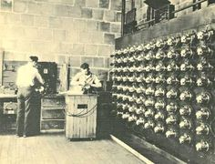 Here's a cool photo of Kirby workers testing motors in the motor test room in 1935.