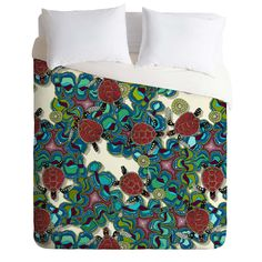 Sharon Turner Turtle Reef Duvet Cover | DENY Designs Home Accessories