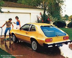 Ford PINTO. My neighbor growing up had one of these death traps as his daily driver. It was poo brown with pea green pleather interior. There was pea green pinstripe on the exterior too. The can srsly was a hot mess LMAO