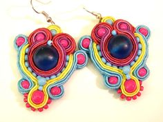 Soutache earrings by olaboga on Etsy. $17.00, via Etsy.