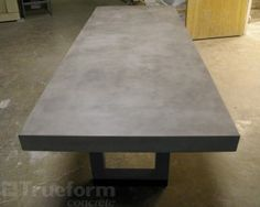 Concrete Dining Table U2013 Steel Tube Base And Concrete Table Top